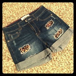 Pants - NWOT! Boutique Denim and Leopard Shorts